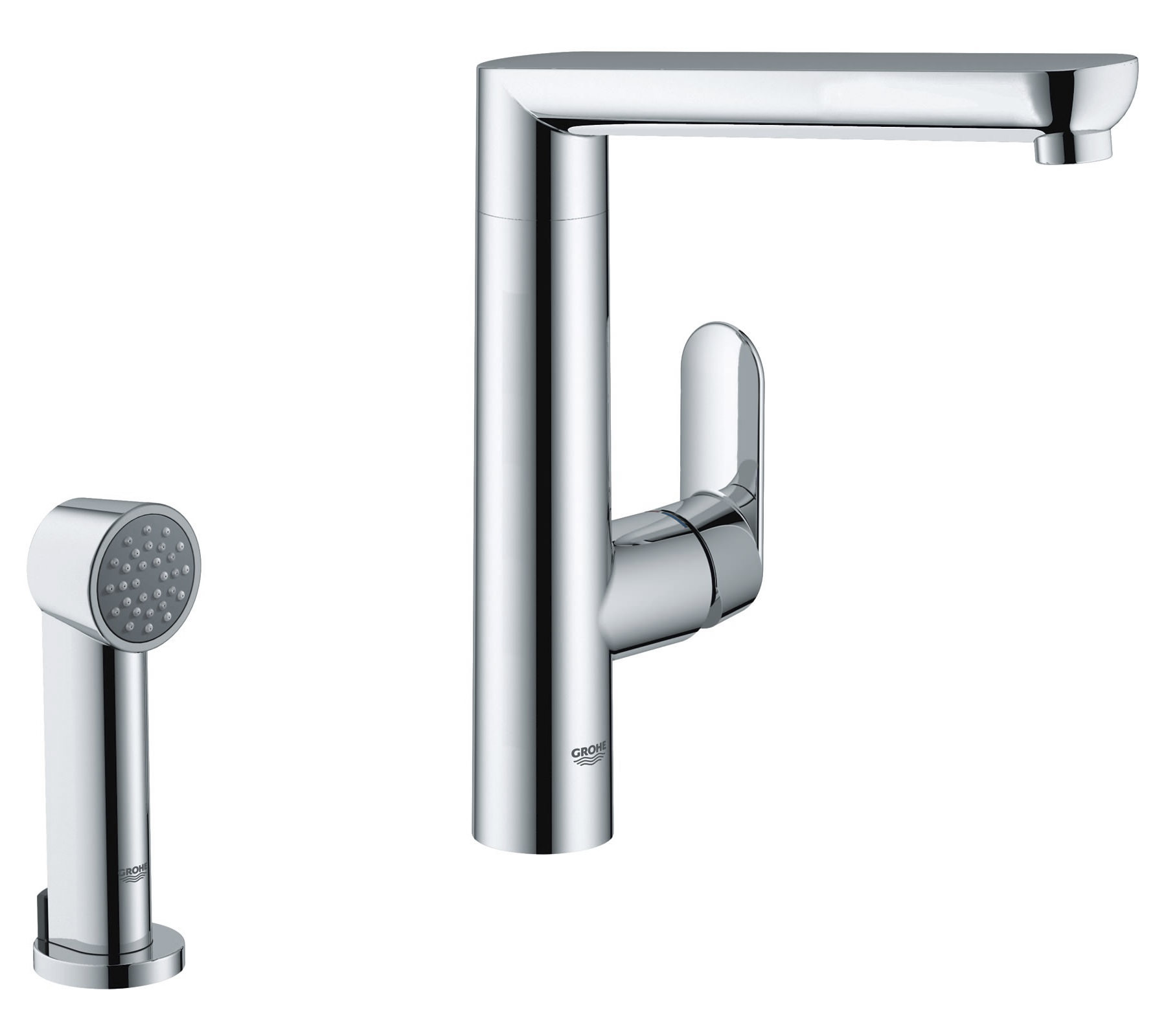 grohe k7 single lever kitchen sink mixer tap with pull out. Black Bedroom Furniture Sets. Home Design Ideas