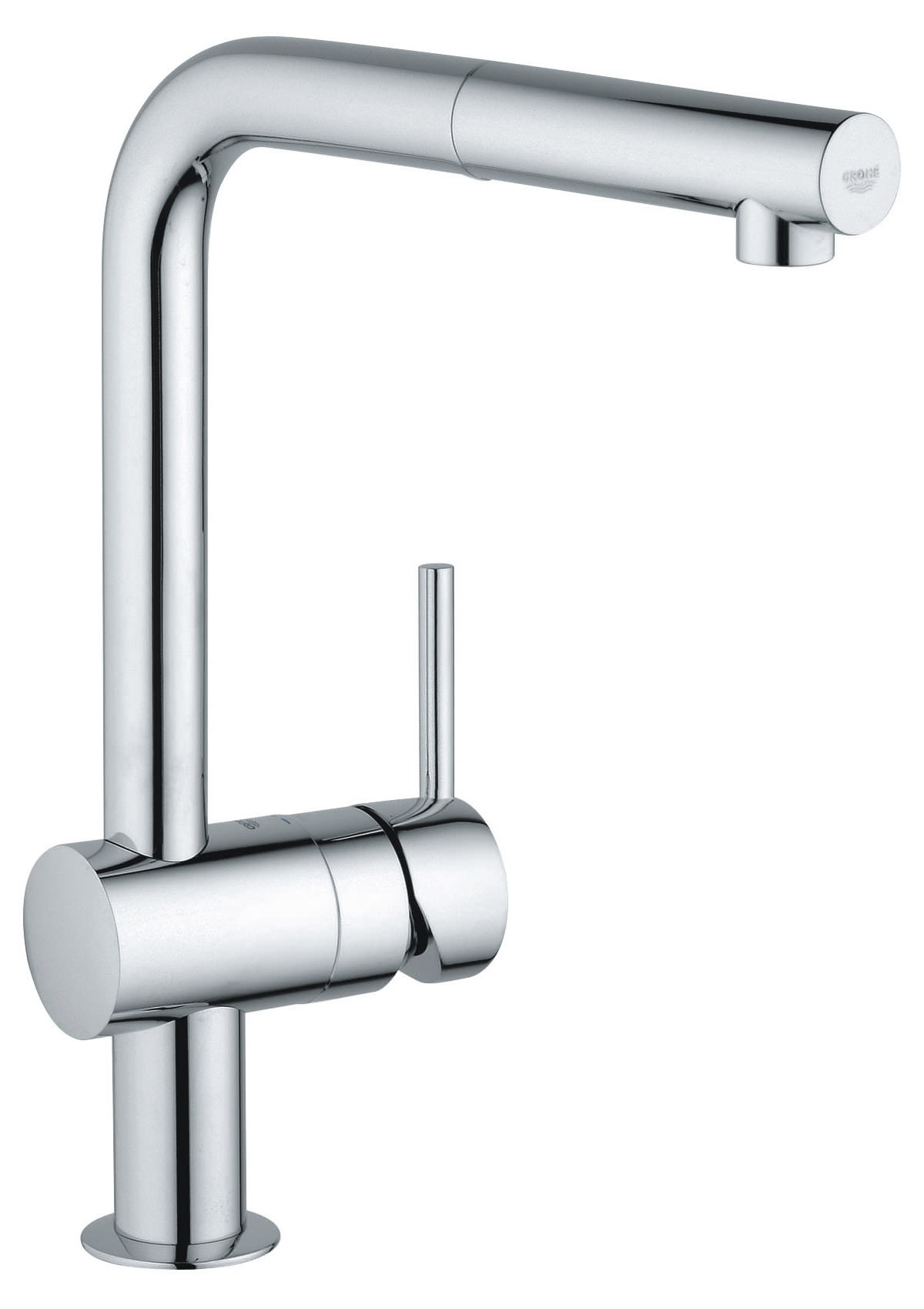 grohe minta monobloc kitchen sink mixer tap with pull out spout 32168000. Black Bedroom Furniture Sets. Home Design Ideas