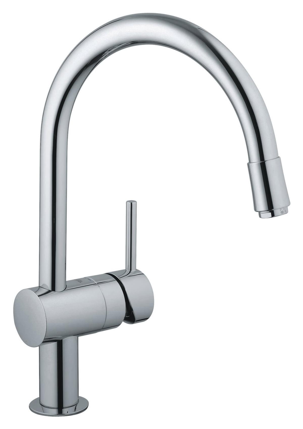 Grohe Minta Chrome Sink Mixer Tap With Mousseur Spout