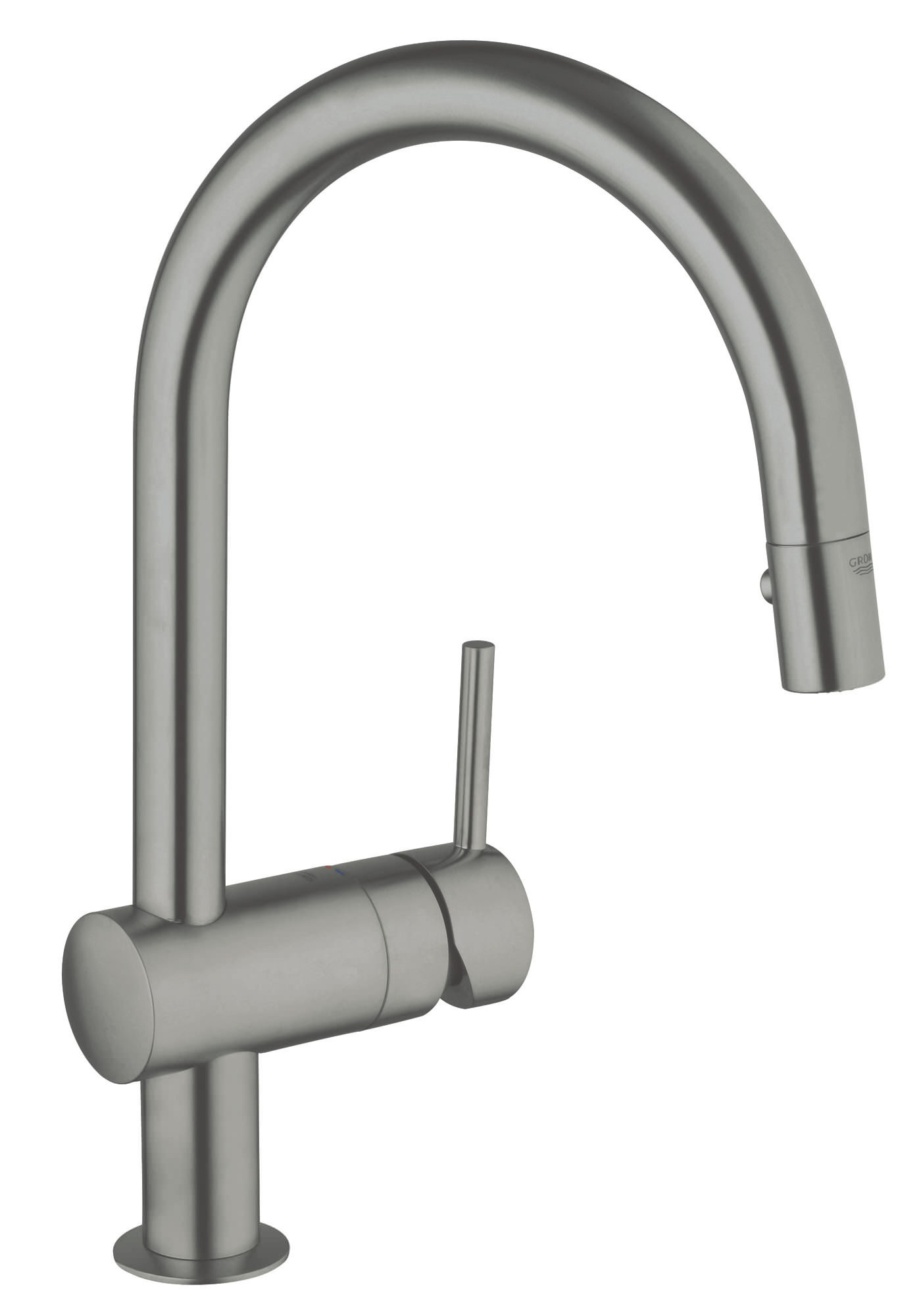 grohe minta supersteel sink mixer tap with trigger spray. Black Bedroom Furniture Sets. Home Design Ideas