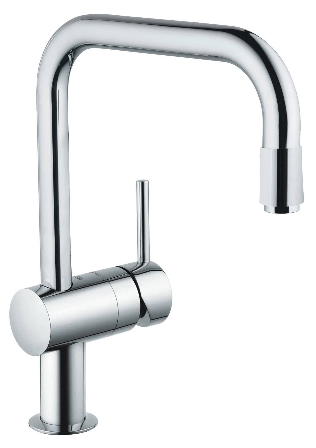 Grohe minta kitchen sink mixer tap with pull down spray head chrome - Shower head for kitchen sink ...