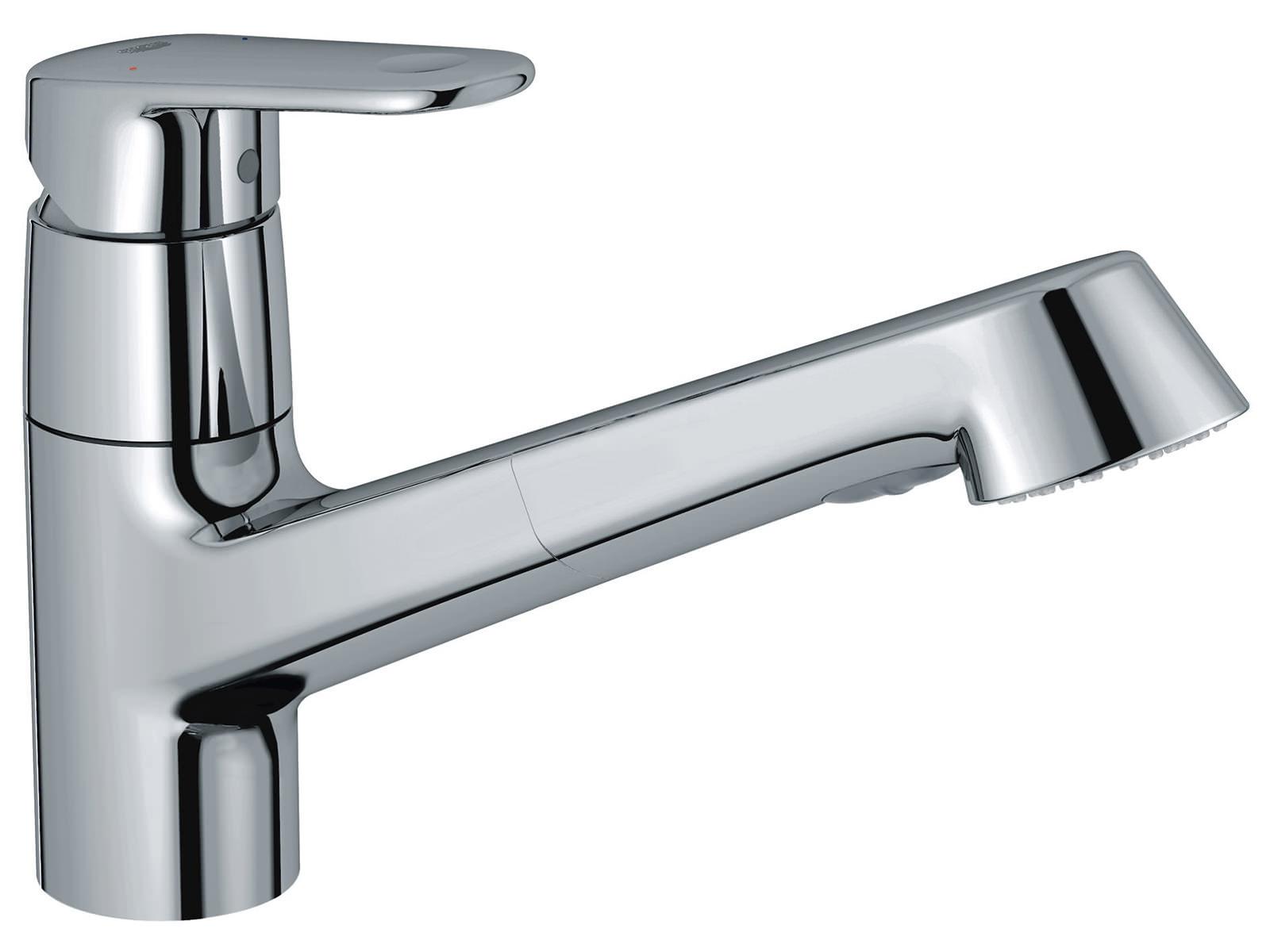grohe europlus chrome low spout sink mixer tap 32942002. Black Bedroom Furniture Sets. Home Design Ideas