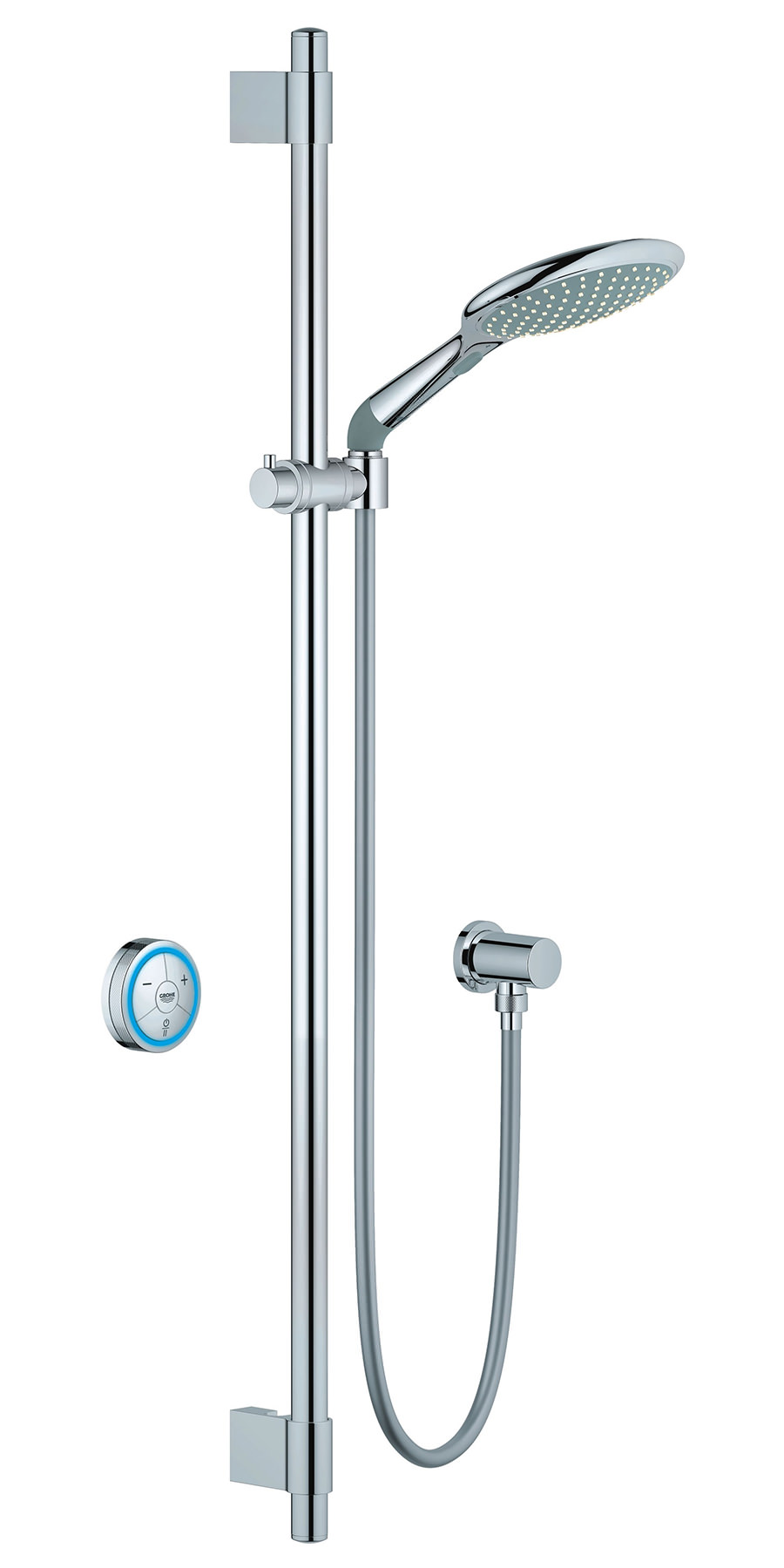 grohe rainshower solo f digital high pressure shower set. Black Bedroom Furniture Sets. Home Design Ideas