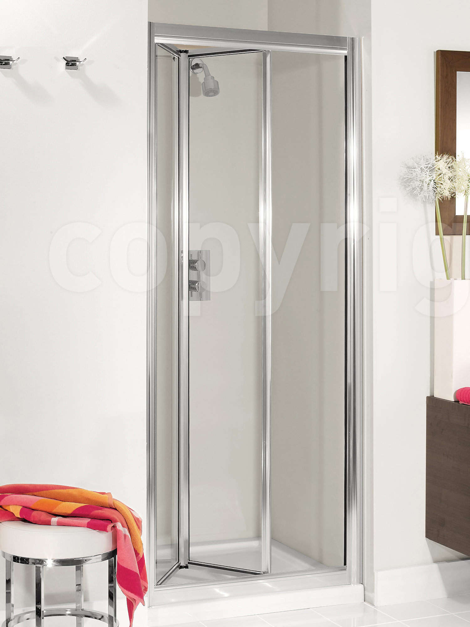 Simpsons Supreme Silver Framed 600mm Plus Bifold Door 7230