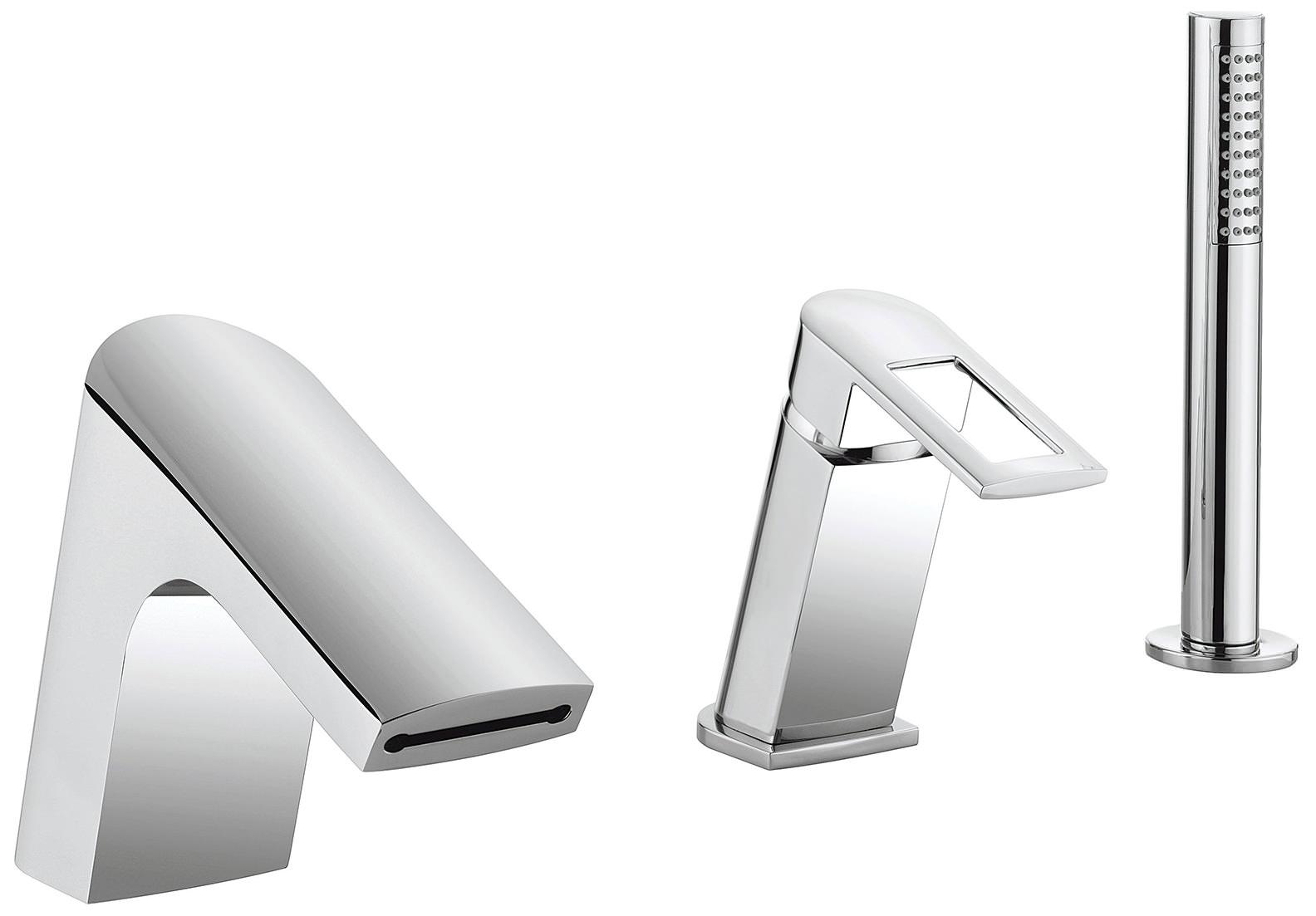 Crosswater Slip Deck Mounted Bath Shower Mixer Tap