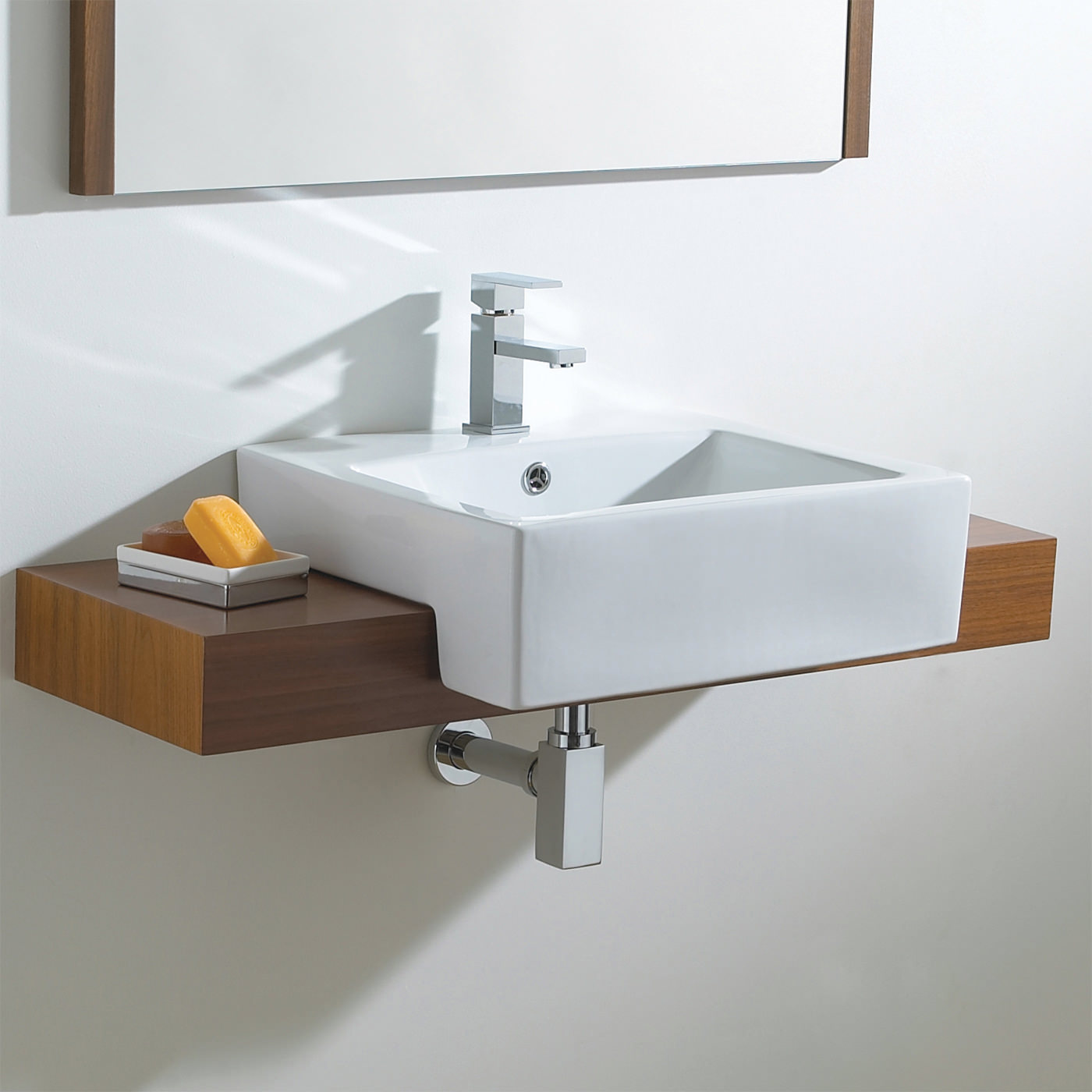 Shower And Bath Ideas Phoenix Semi Recessed Wash Basin Vb014