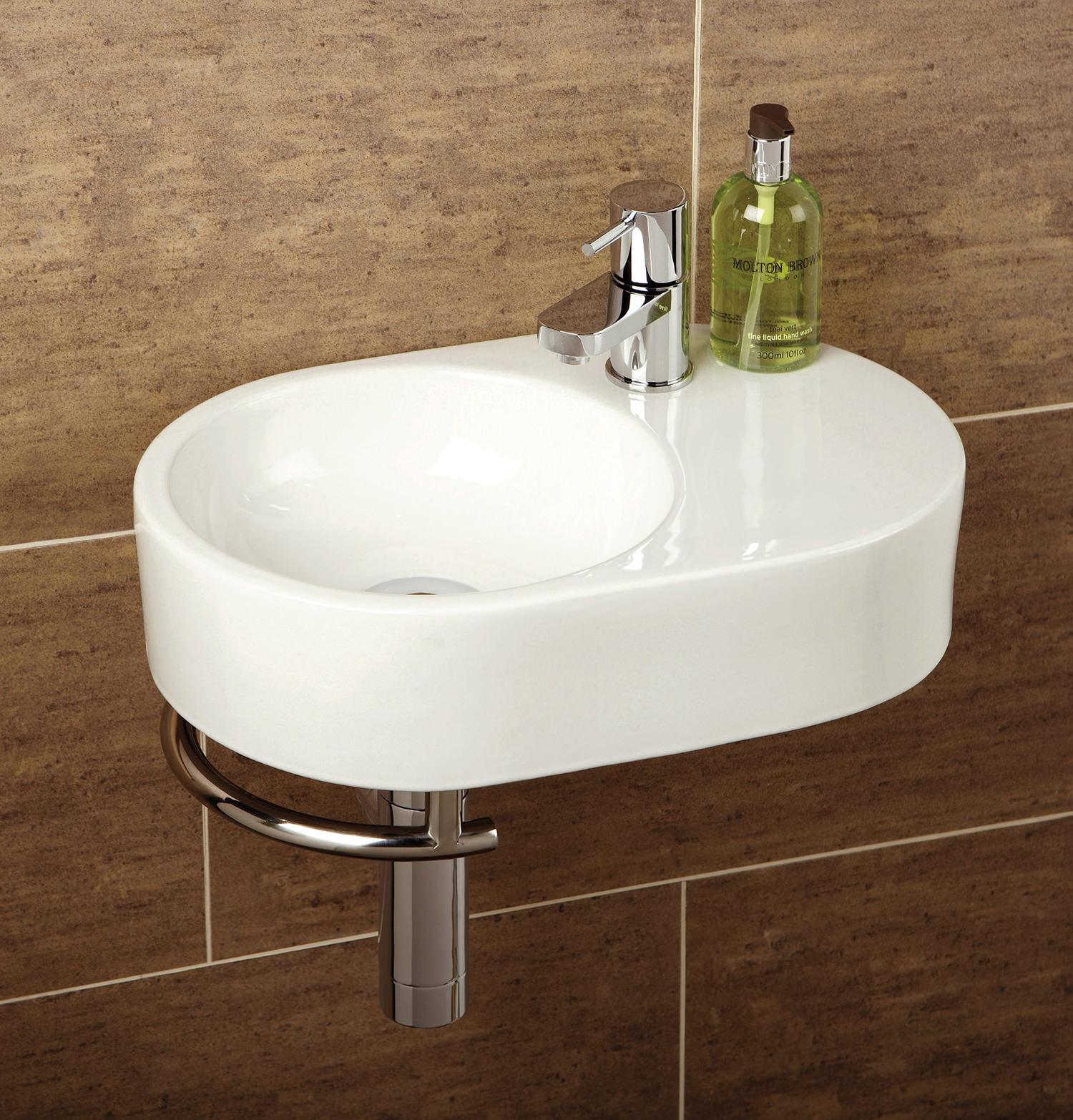 HIB Malo Saville Cloakroom Basin With Towel Rail