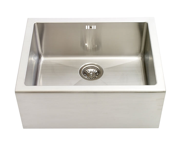 ... Belfast 1.0 Bowl Brushed Stainless Steel Sit-In Sink - BEXBHOMEPK
