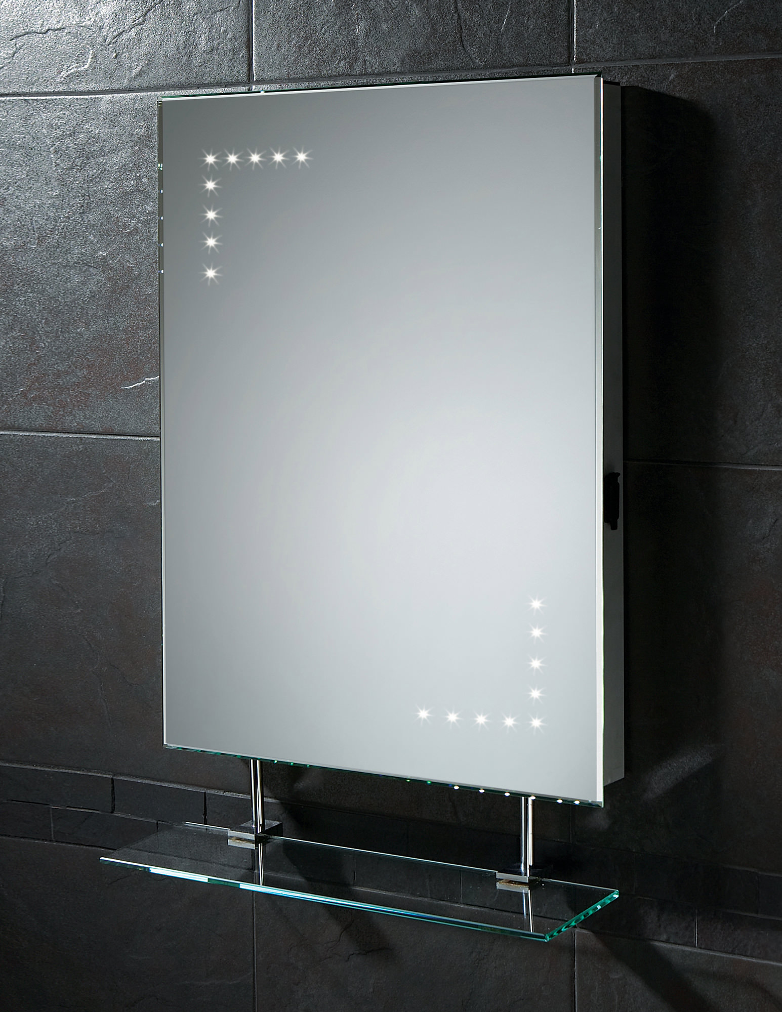 Hib Celeste Led Mirror With Glass Shelf And Shaver Socket