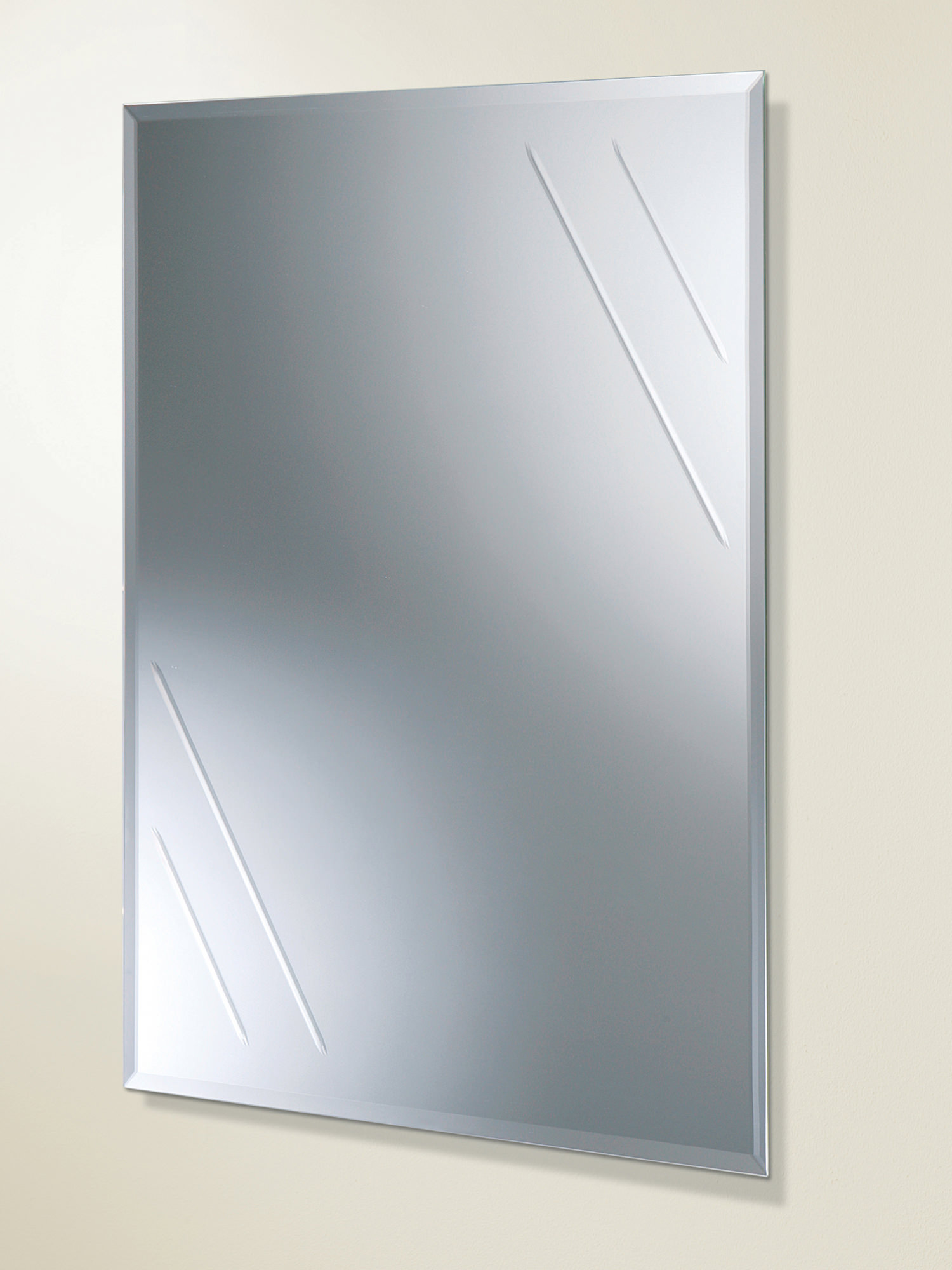 Hib Albina Rectangular Bevelled Edge Bathroom Mirror 61164100