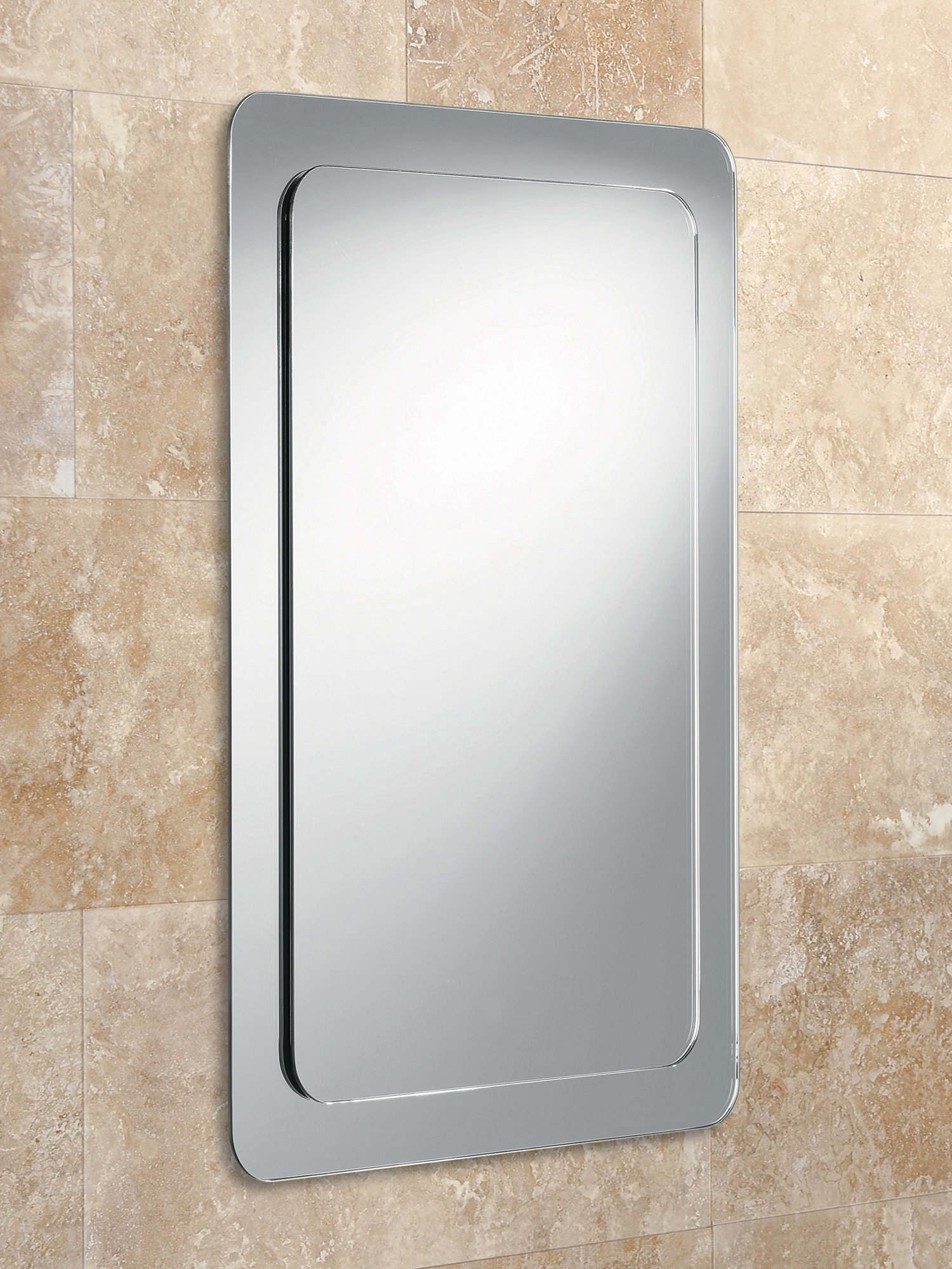 Bevelled Bathroom Mirror Hib Almo Bevelled Mirror On Mirror With Rounded Corners 63210795