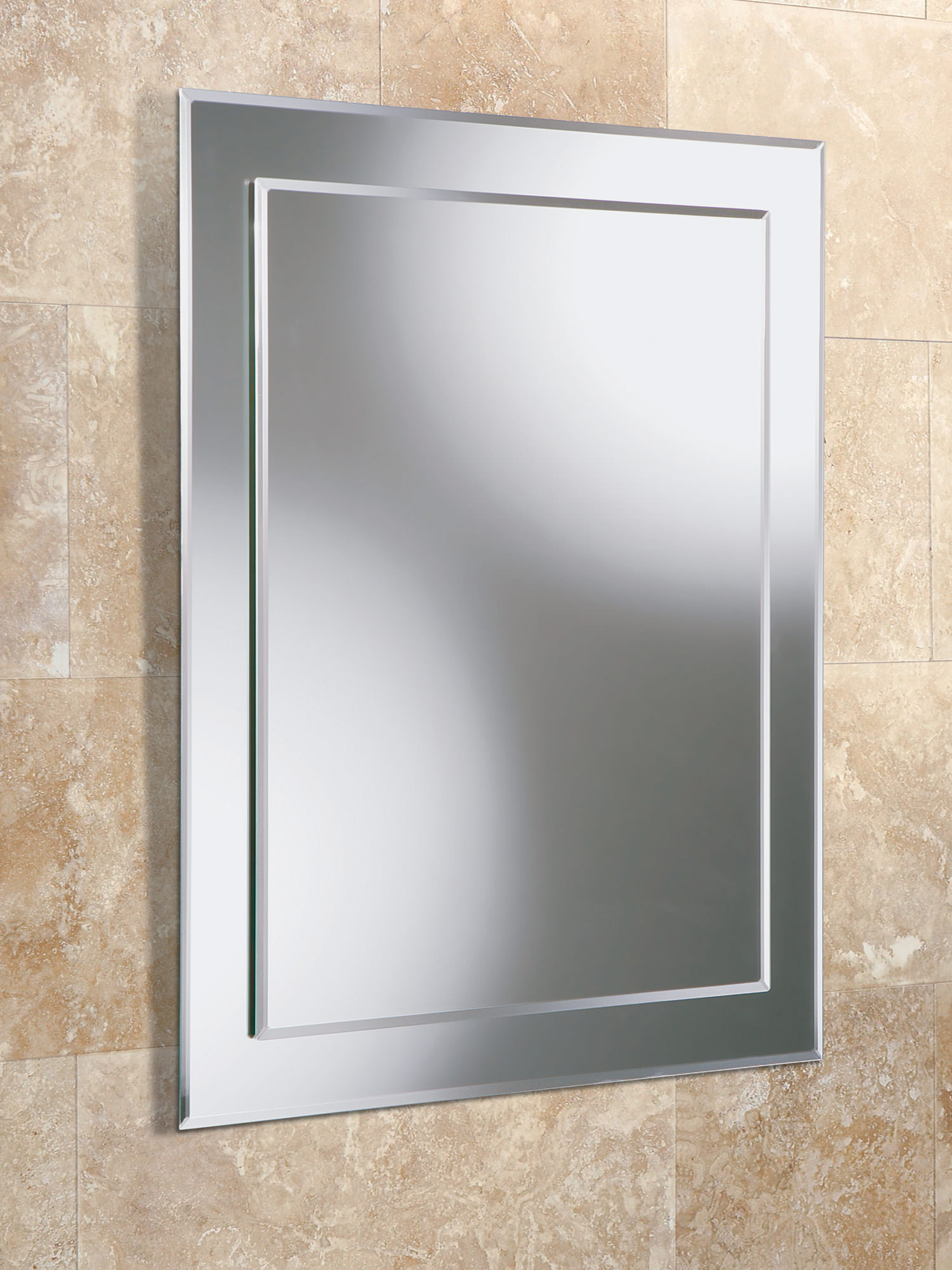 HIB Emma Rectangular Bevelled Mirror On 400 X 500mm