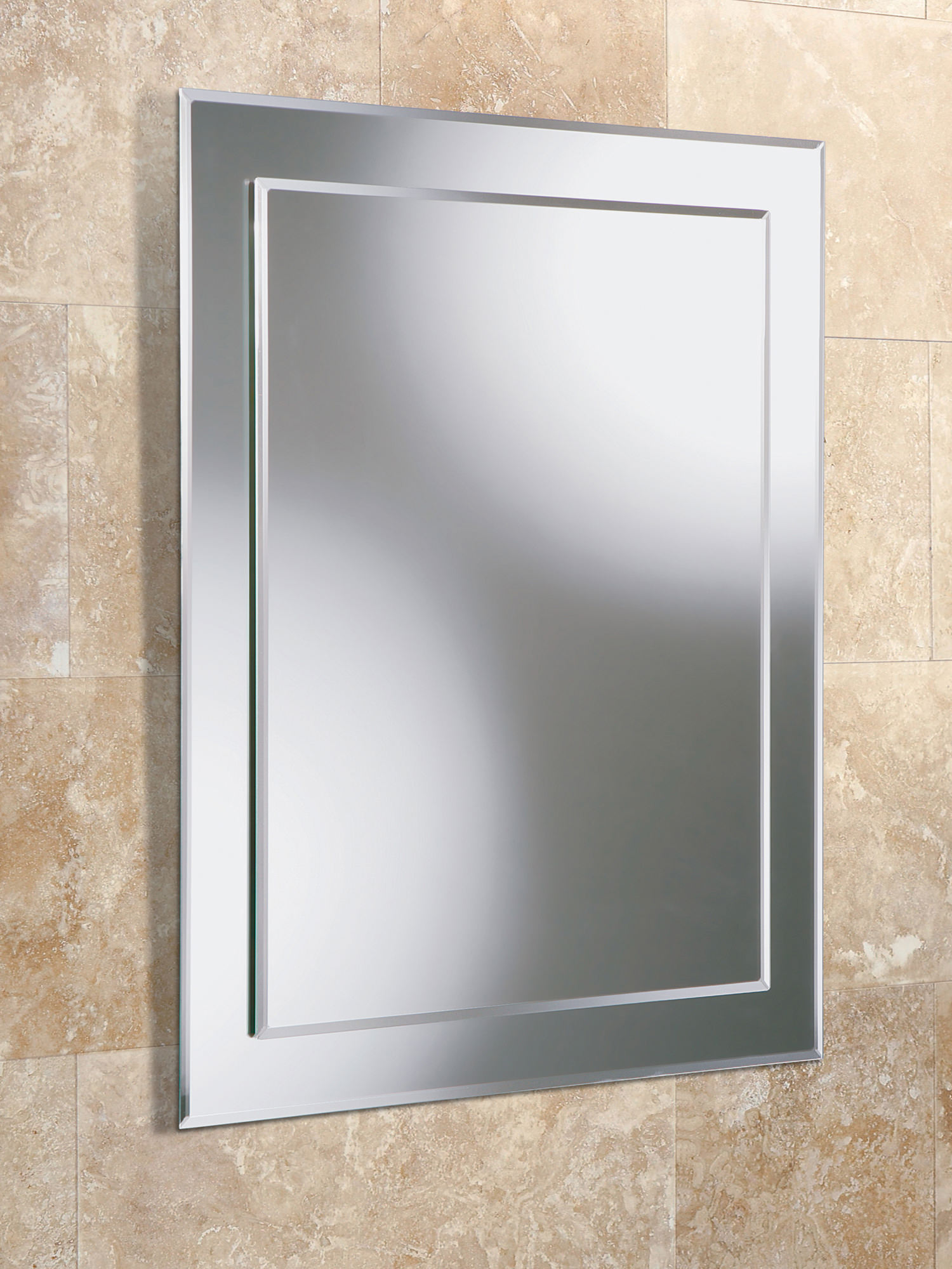 HIB Olivia Rectangular Bevelled Mirror On 400 X 600mm
