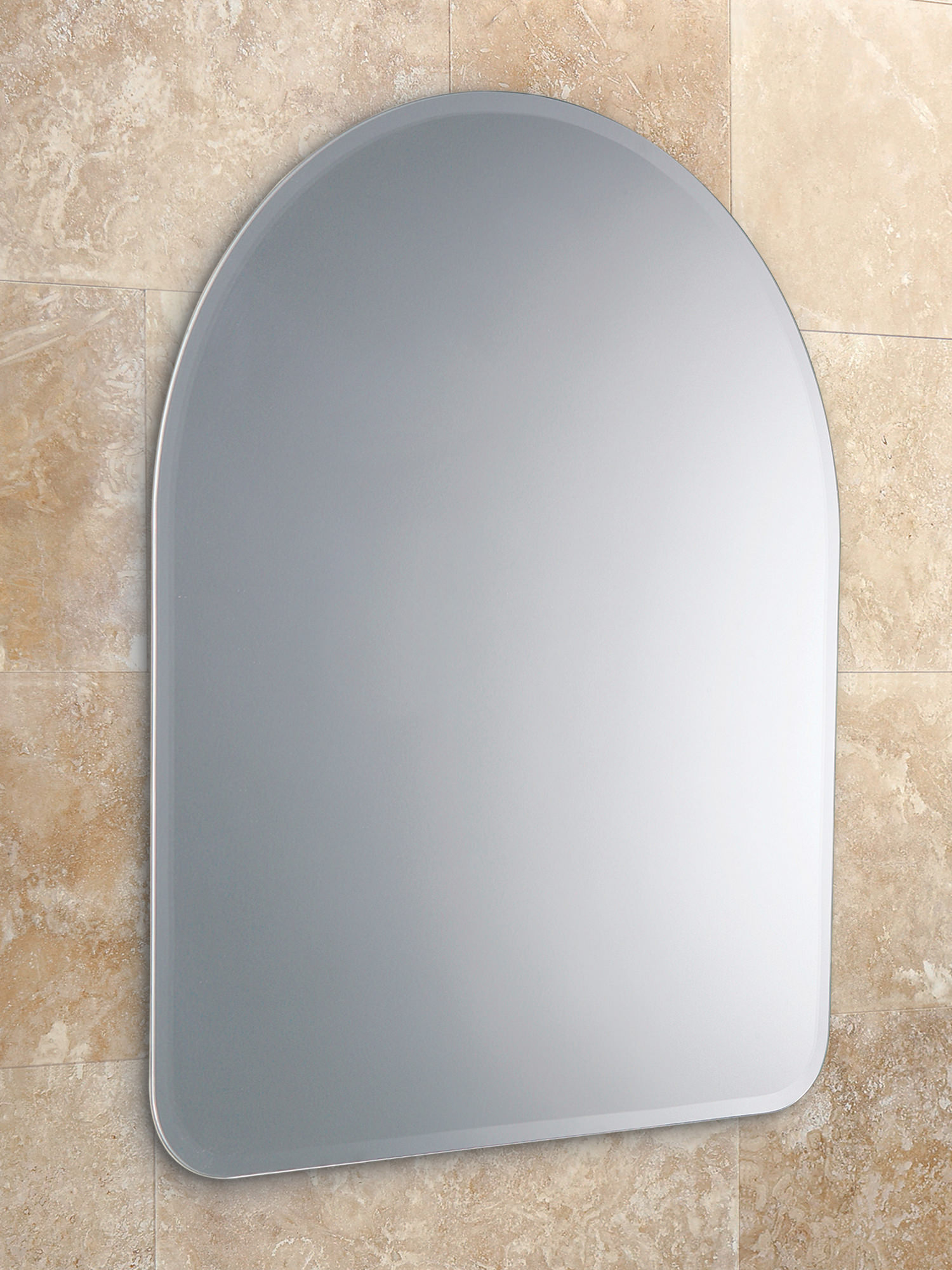 Hib tara arched mirror with narrow bevelled edges 61883000 for Narrow mirror