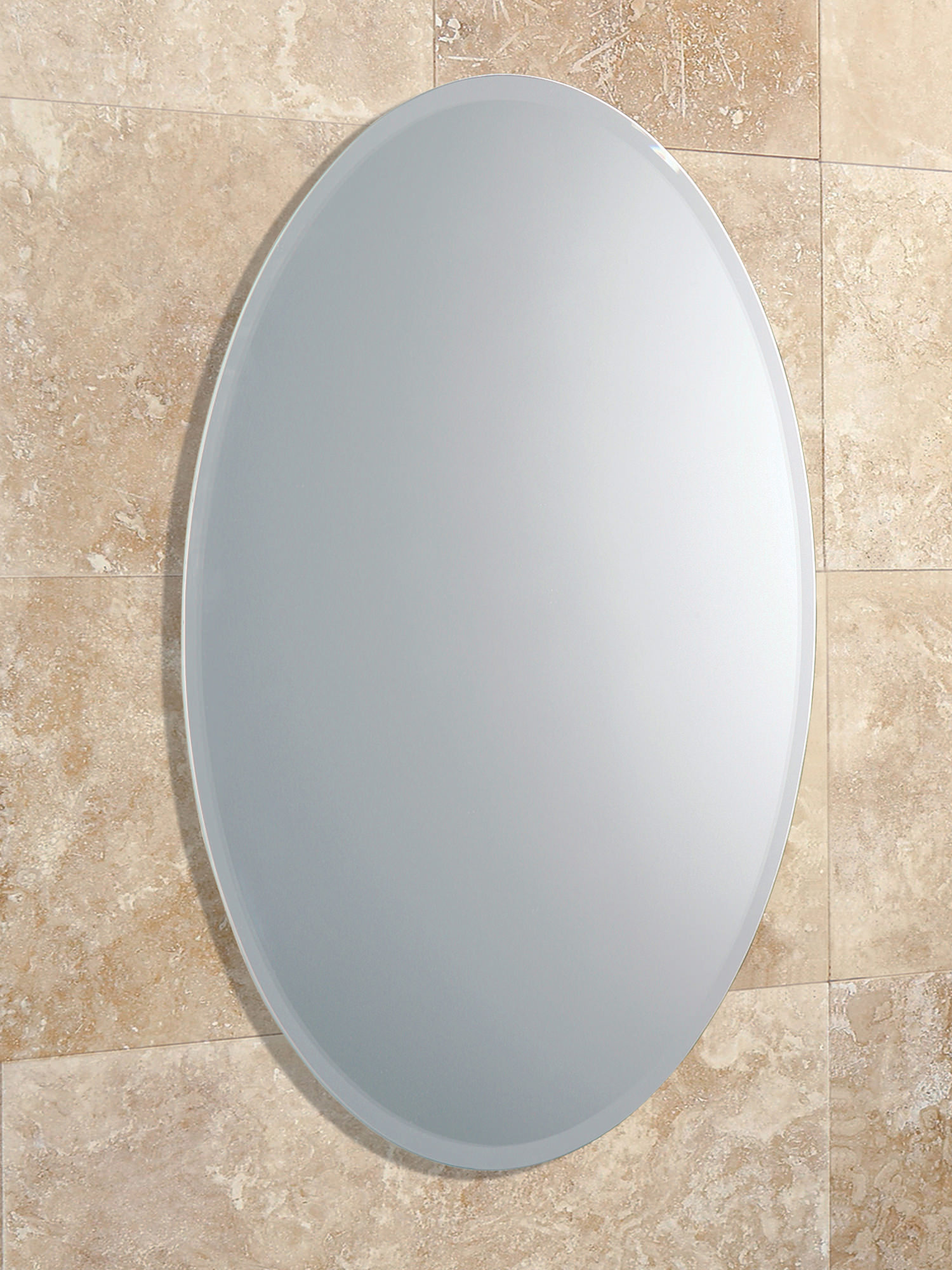 bevelled bathroom mirrors hib alfera oval shaped mirror with bevelled edge 61643000 12074