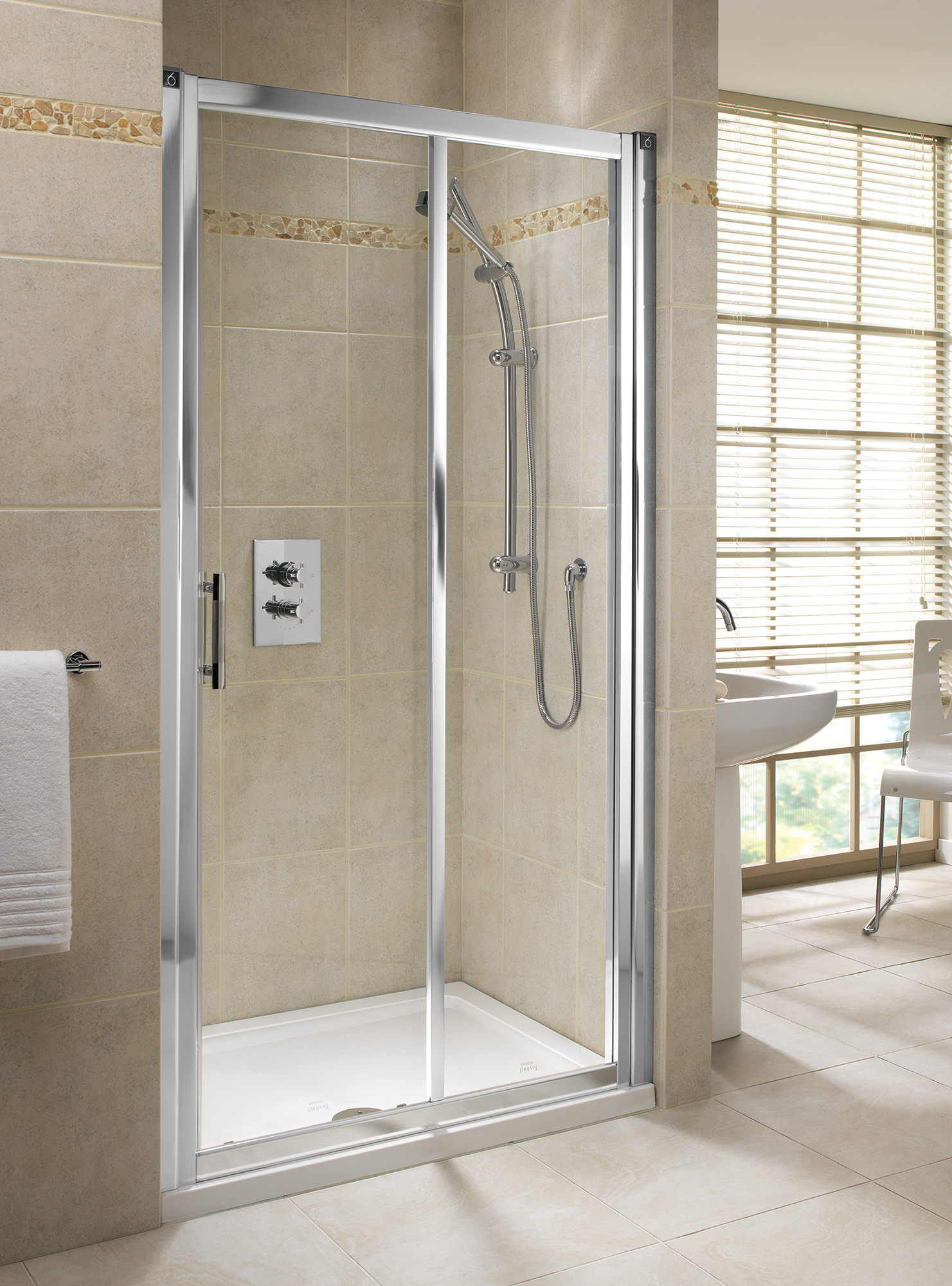Twyford Geo6 1000mm Sliding Shower Door Left Or Right Hand