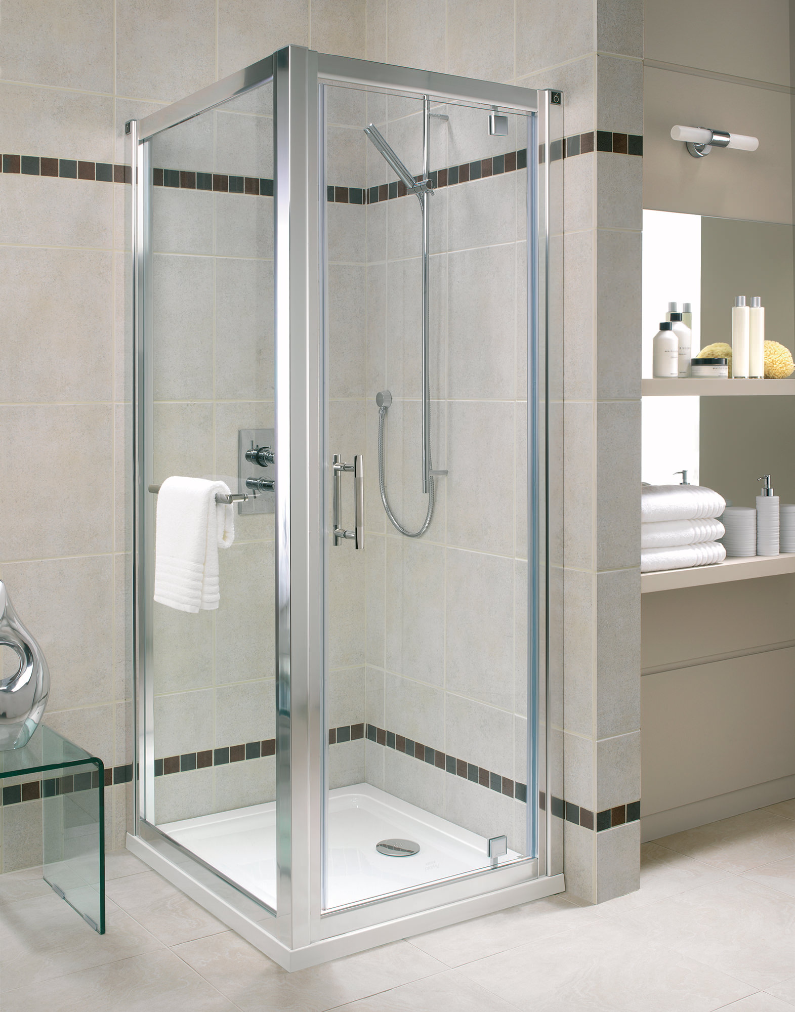 Twyford Geo6 Pivot Shower Enclosure Door 760mm G63100cp