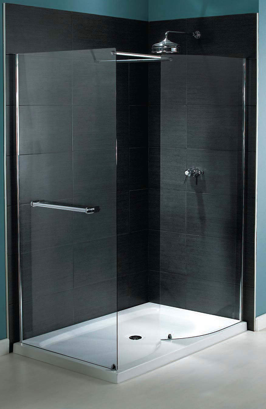Aqualux shine walk in shower enclosure 1400 x 800mm for 1400 shower door