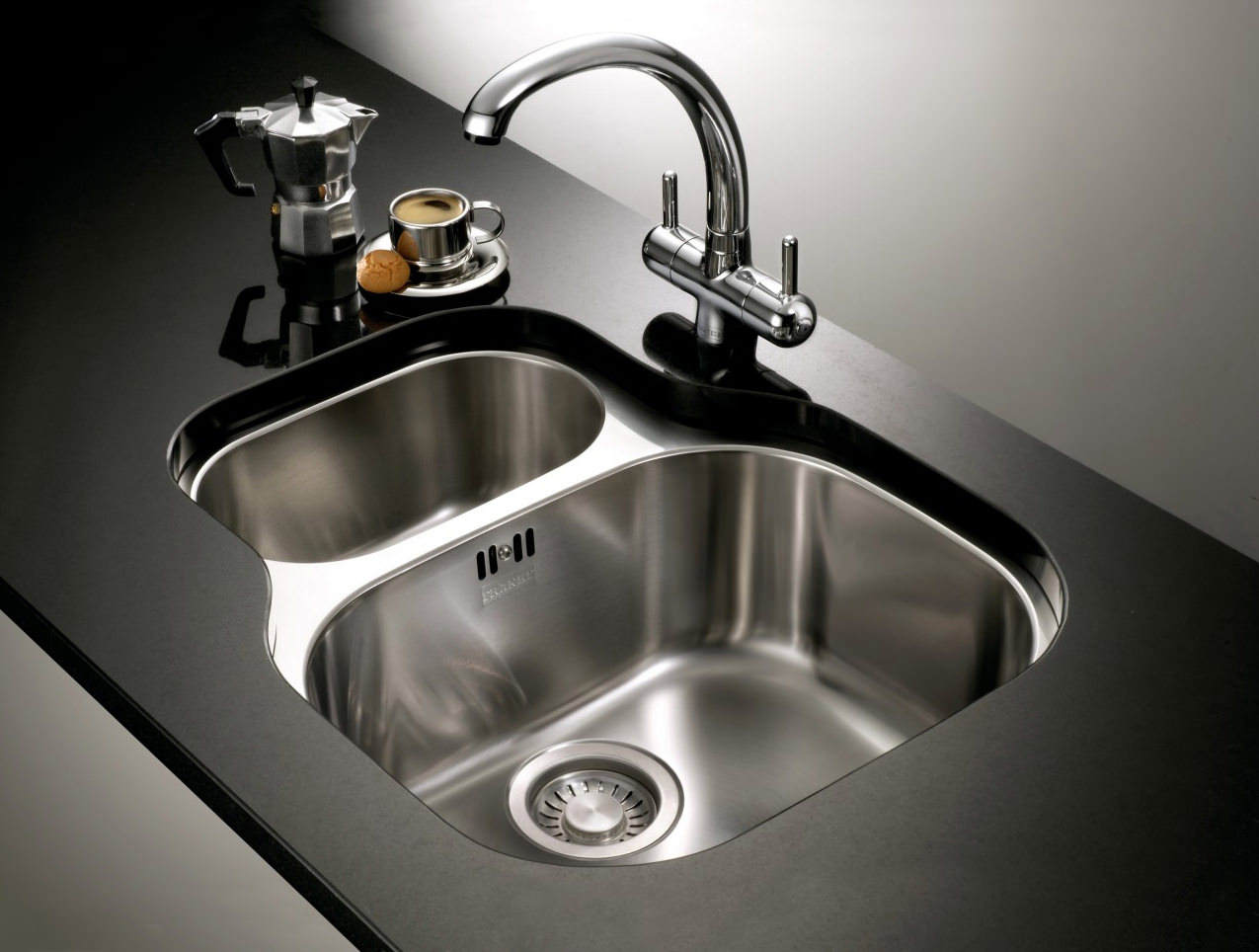 Franke Ss Sinks : ... Franke Compact Plus CPX 160P Stainless Steel 1.5 Bowl Undermount Sink