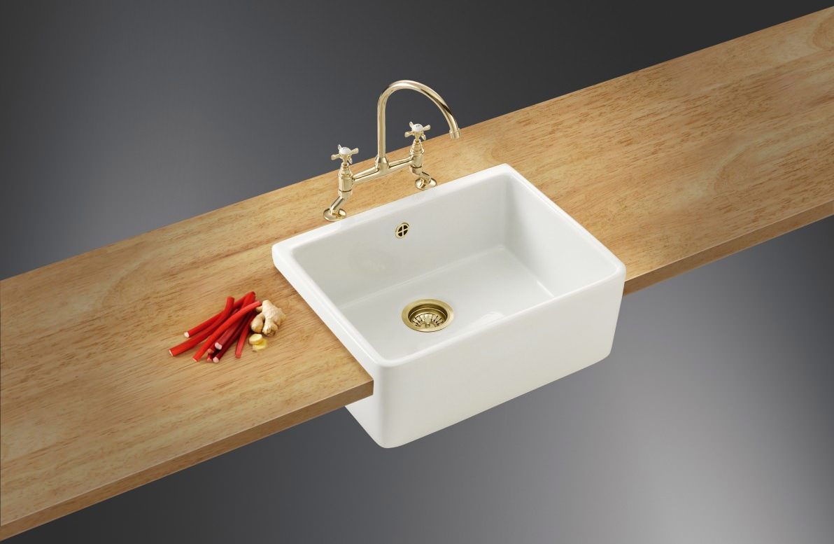 Belfast Kitchen Sink : Image 4 of Franke Belfast VBK 710 White Ceramic 1.0 Bowl Kitchen Sink