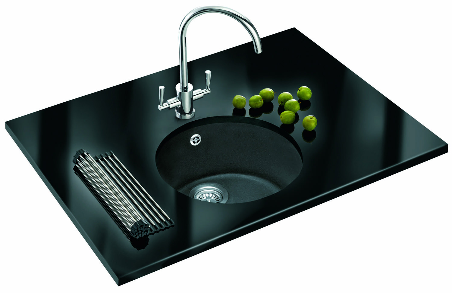 Franke Fragranite Undermount Sink : ... of Franke Rotondo Fragranite Graphite 1.0 Bowl Undermount Kitchen Sink