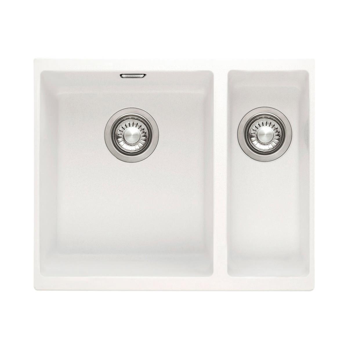 Franke Sirius Sink : Franke Sirius SID 160 White Tectonite 1.5 Bowl Kitchen Undermount Sink ...
