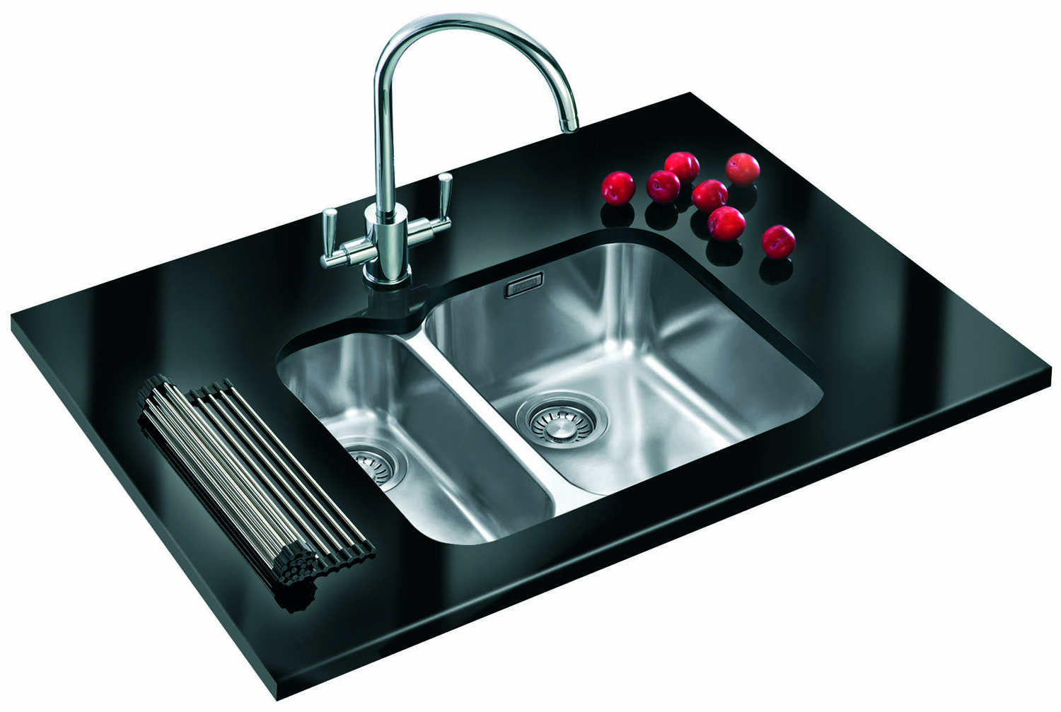 ... of Franke Ariane ARX 160D Stainless Steel 1.5 Bowl Undermount Sink