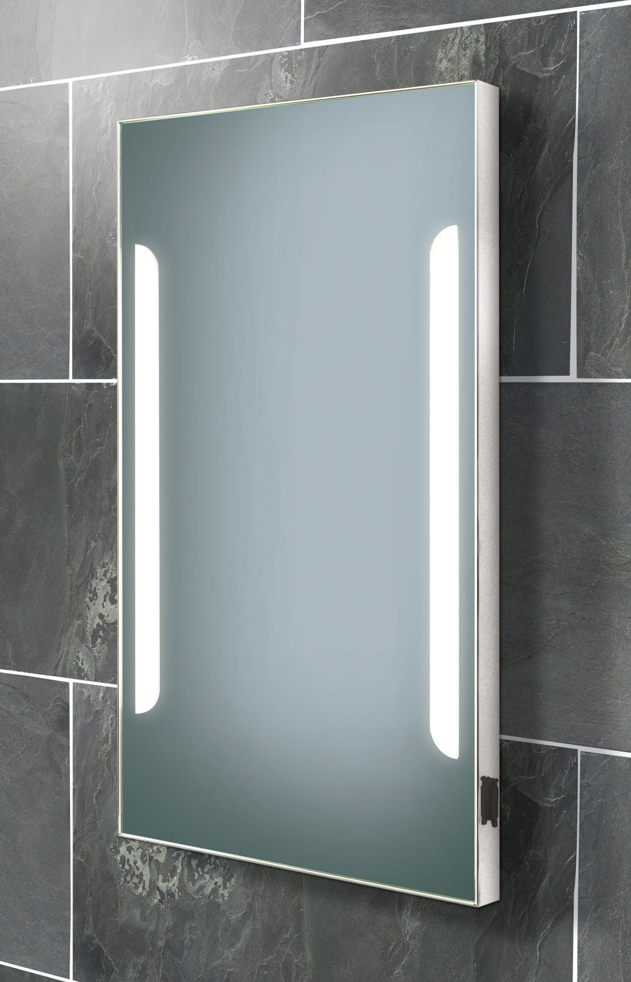 HIB Zenith Back Lit Steam Free Mirror With Shaver Socket 450 X 800mm