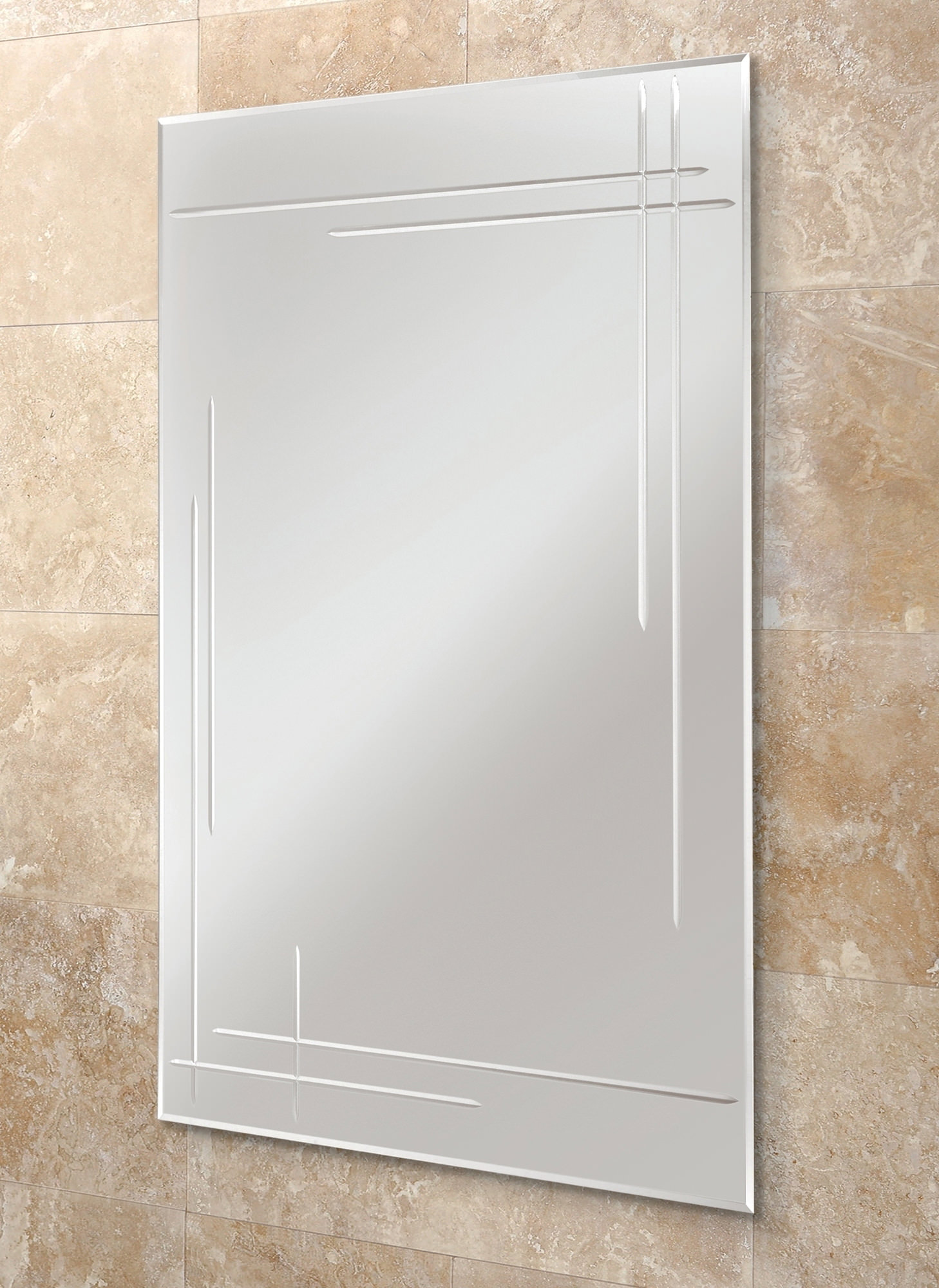 Hib Opus Rectangular Bevelled Edge Bathroom Mirror 500 X 700mm 61164595