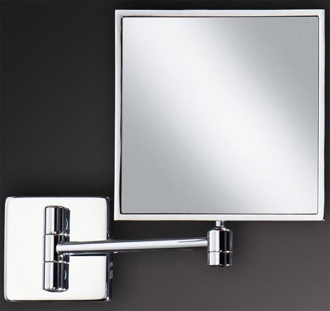 hib square magnifying bathroom mirror 24400