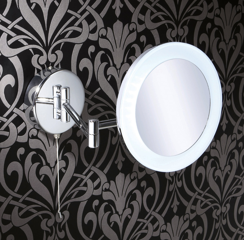 HIB Leo LED Illuminated Magnifying Bathroom Mirror