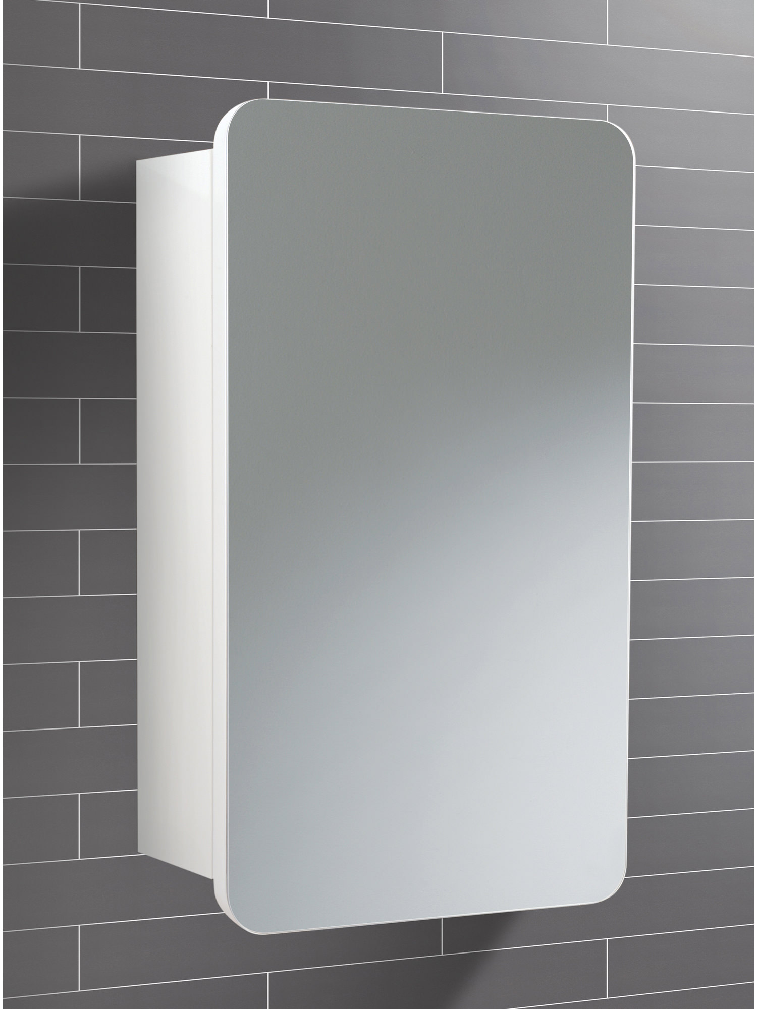 HIB Montana Single Door Bathroom Mirrored Cabinet 350 x 570mm ...