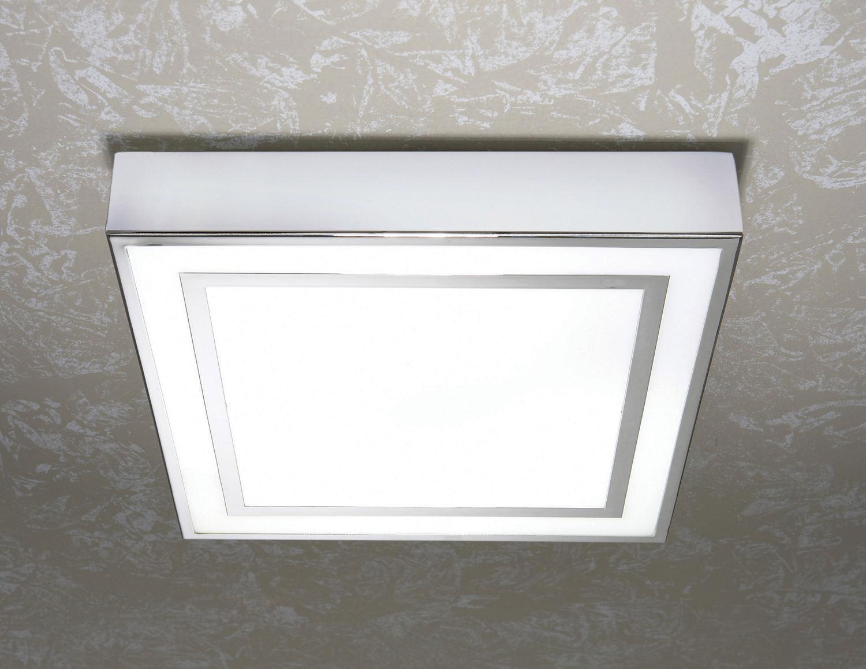 Hib yona square ceiling light 660 for Square bathroom ceiling light
