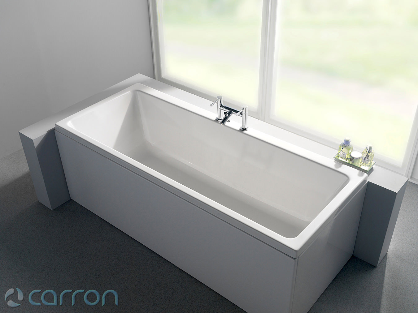 Carron quantum double ended acrylic bath 1800 x 800mm q4 for Bath 1800