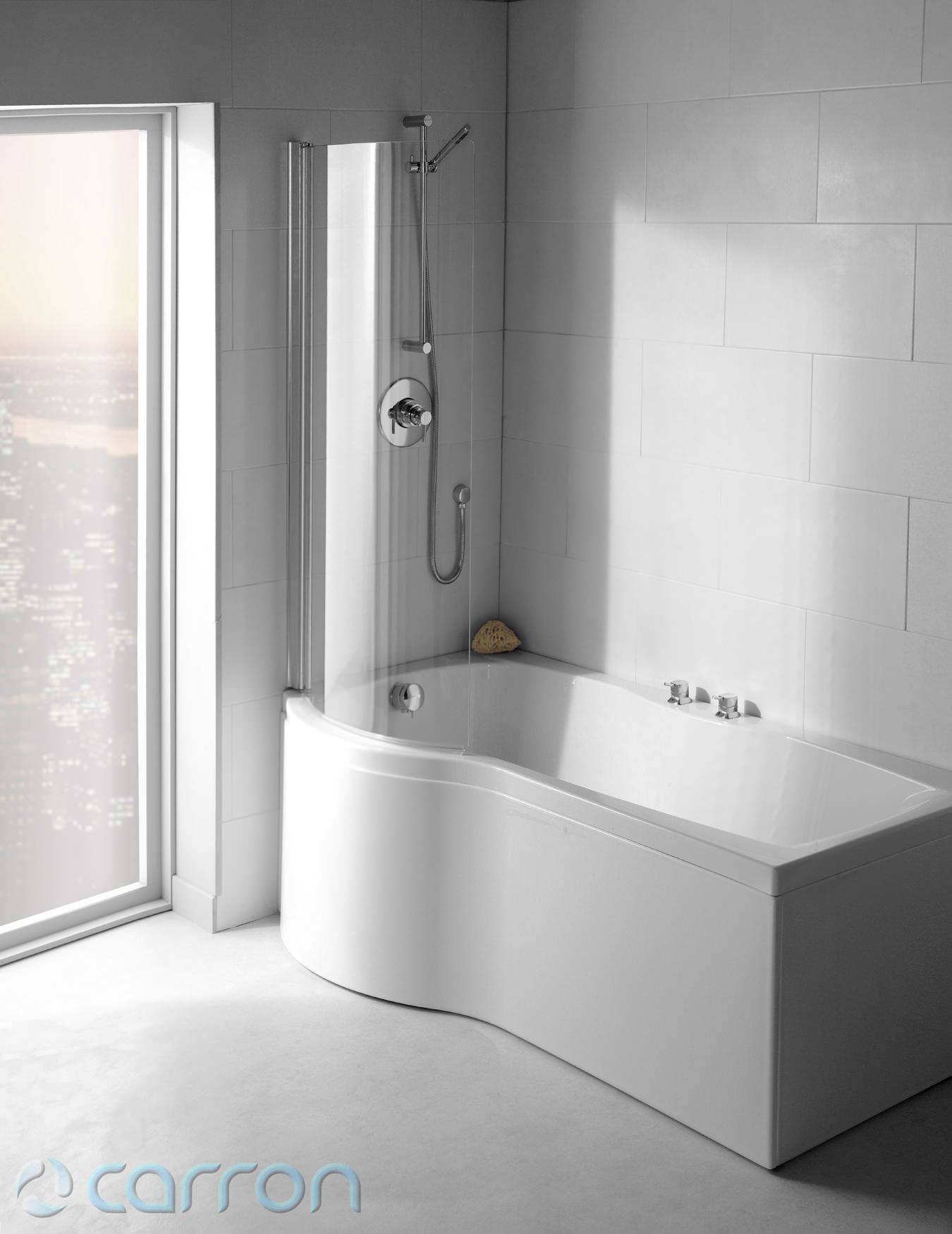 carron sigma right hand shower bath 1800 x 900mm