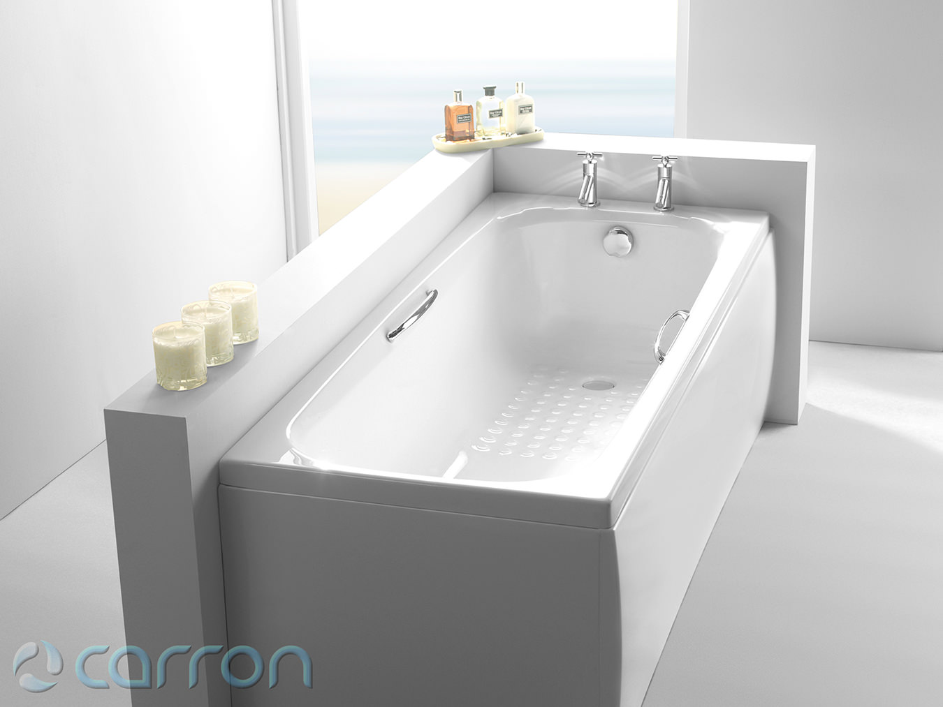 Carron Swallow Single Ended 5mm Acrylic Bath With Twin Grip 1700 x ...