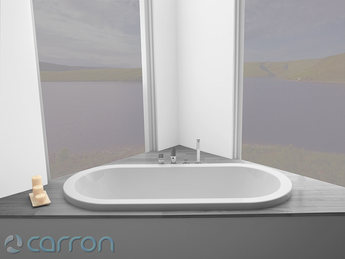 Carron Halcyon Oval Inset Double Ended Bath 1750 X800mm