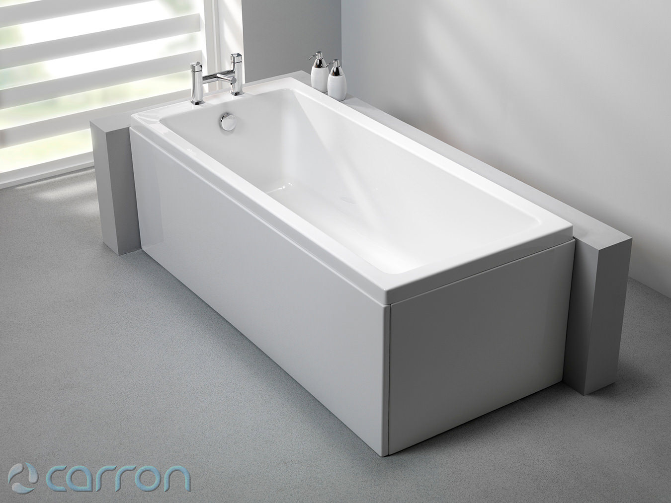 carron quantum single ended acrylic bath 1800 x 800mm