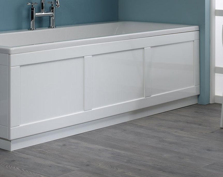 Roper Rhodes 800 Series White Front Bath Panel 1700mm Bp800w
