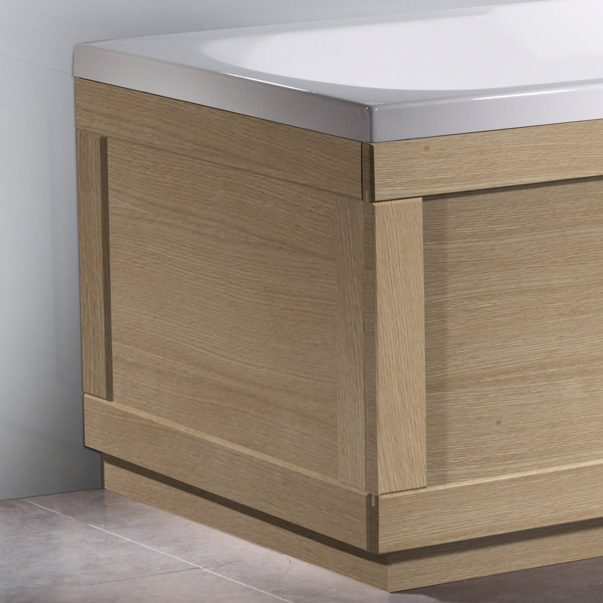 Superb img of Roper Rhodes 800 Series Natural Oak End Bath Panel 700mm BP801NO with #7C664F color and 1200x1200 pixels