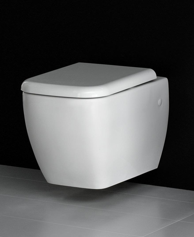 rak metropolitan wall hung wc pan with soft close seat 525mm. Black Bedroom Furniture Sets. Home Design Ideas