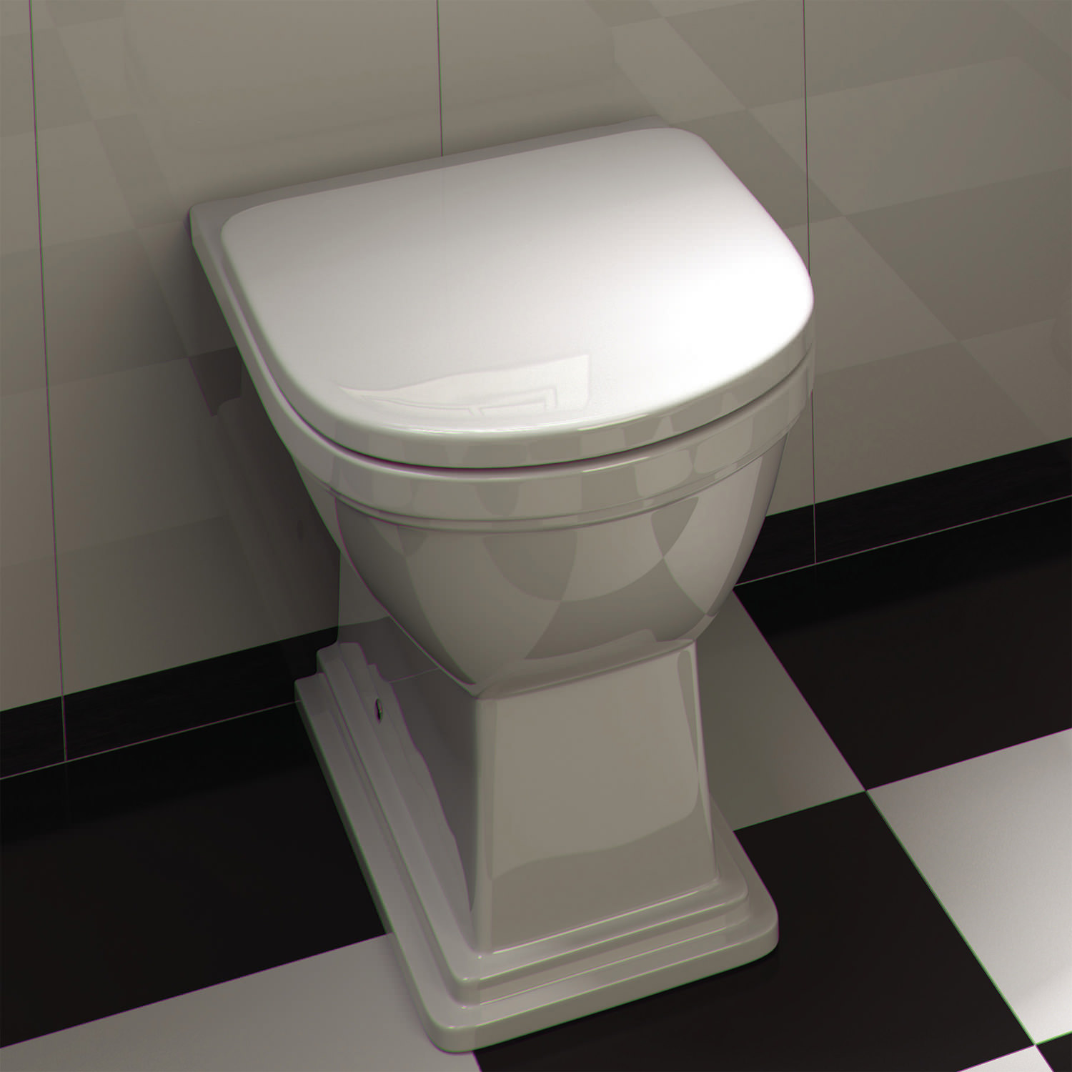 Rak empire back to wall wc pan with standard seat 540mm for Empire bathrooms