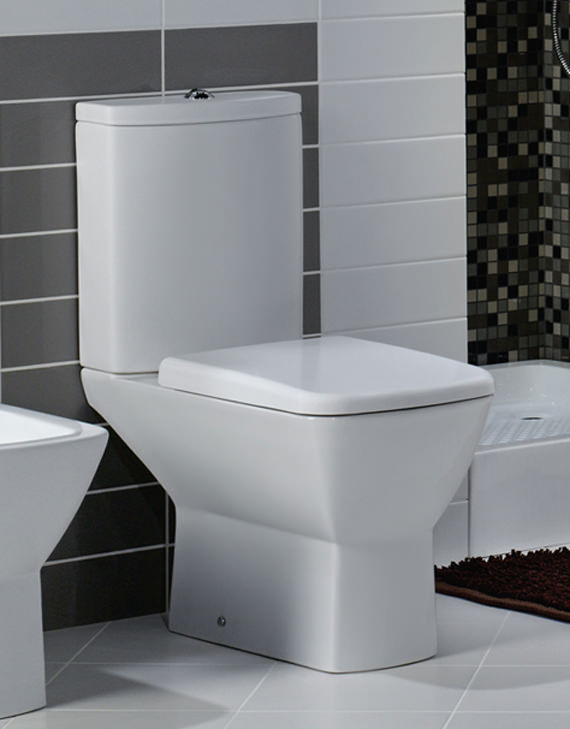 Rak Summit Close Coupled Wc With Soft Close Toilet Seat 650mm