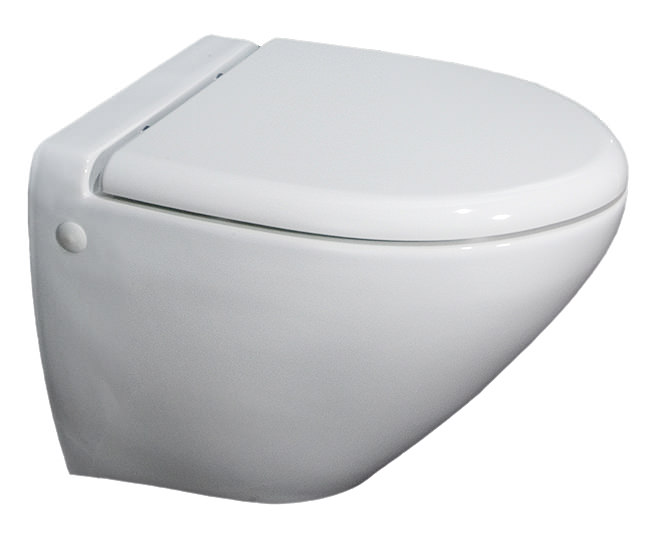 rak reserva wall hung wc pan with soft close toilet seat 555mm. Black Bedroom Furniture Sets. Home Design Ideas