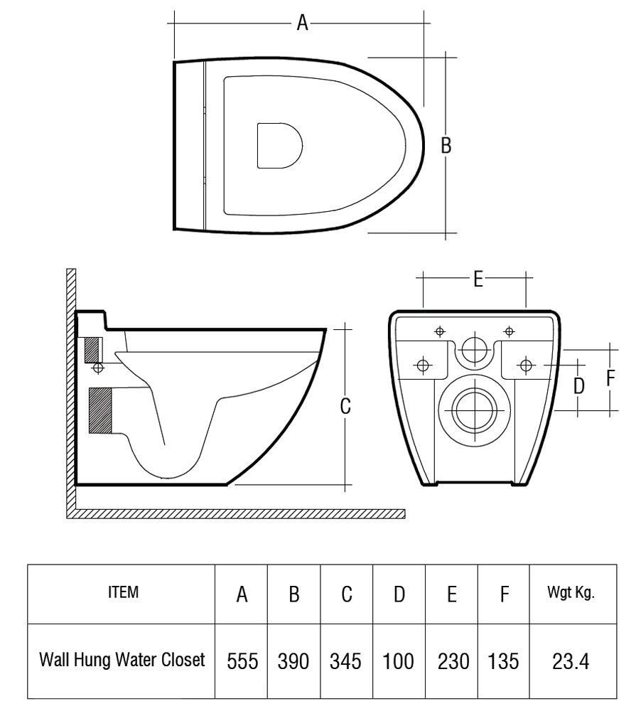 uk toilet seat sizes.  Toilet Seat 555mm Technical drawing QS V36323 Rak Ceramics RAK Reserva Wall Hung WC Pan With Standard