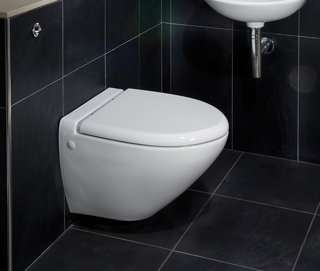 Rak Reserva Wall Hung Wc Pan With Soft Close Toilet Seat 555mm