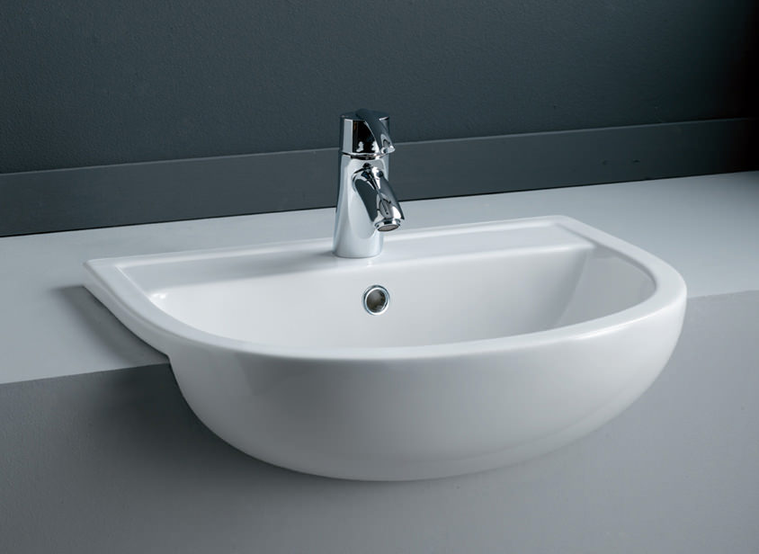 Rak Compact Semi Recessed Basin 450mm 550mm Also Available