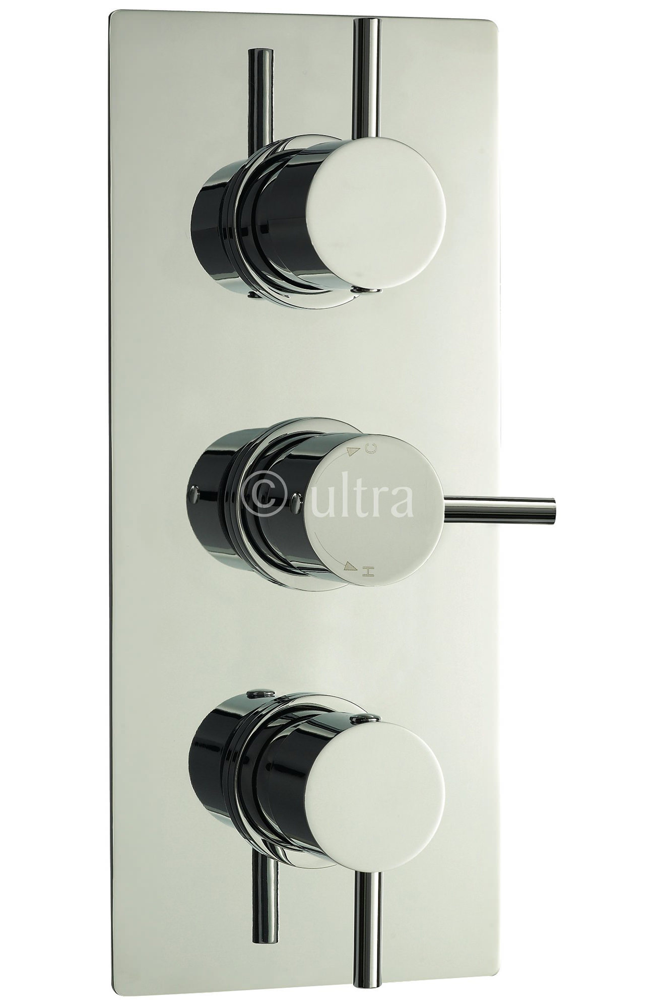 Premier Bathroom Quest Triple Concealed Thermostatic Shower Valve ...