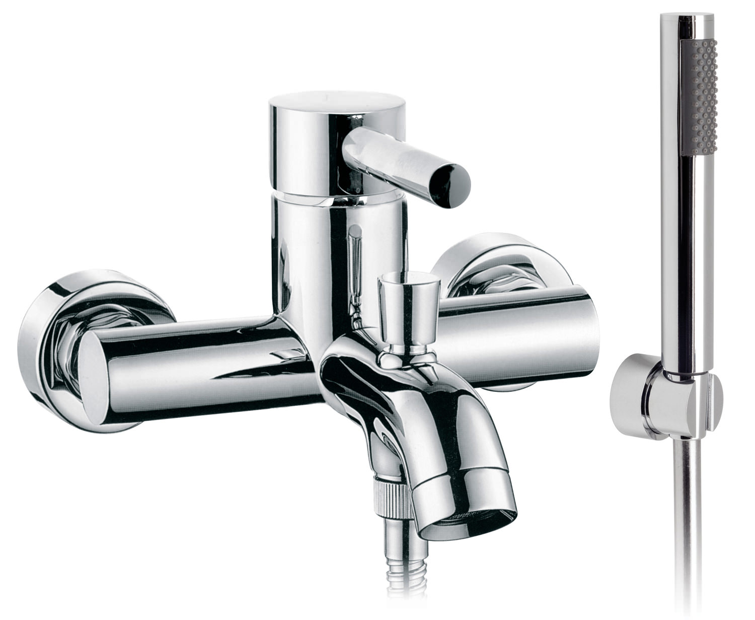 Vado Zoo Wall Mounted Bath Shower Mixer Tap With Kit