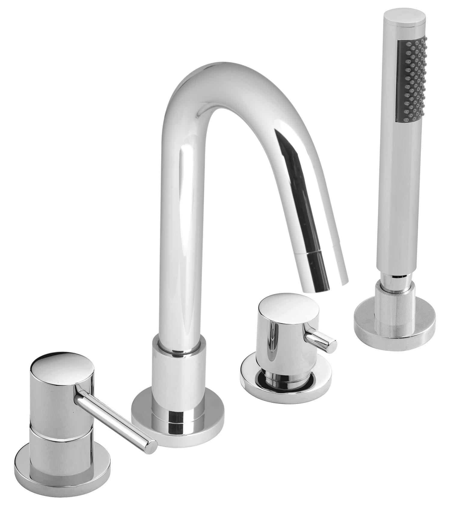 Vado Zoo 4 Hole Single Lever Bath Shower Mixer Tap ZOO-132-C/P